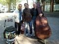 À Paris com o baixista Christian Duperray e o percussionista Júlio Gonçalves abril/2014