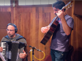 Com Toninho Ferragutti em gravação no Estúdio Arsis - São Paulo SP, out2014. Foto Carlos Henrique Ralize.