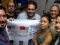 Coletivos Teatro da Vila comemorando a execução do Festival Música para Todos março/2015