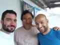 Com Gauba e Kabé Pinheiro no projeto O Circo Chegou da Associação Raso da Catarina em dez2014 - São Paulo SP