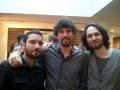 Leonardo Costa, Xavier Bartens e Jérôme Silva tocando em evento de musica brasileira na Universal Music em Paris março 2014.