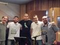 esq-dir: Álvaro Cueva, Leonardo Costa, Josué dos Santos, Rubinho Antunes e Paulinho Malheiros na gravação do CD de Álvaro Cueva no Estúdio Arsis - São Paulo SP out2014