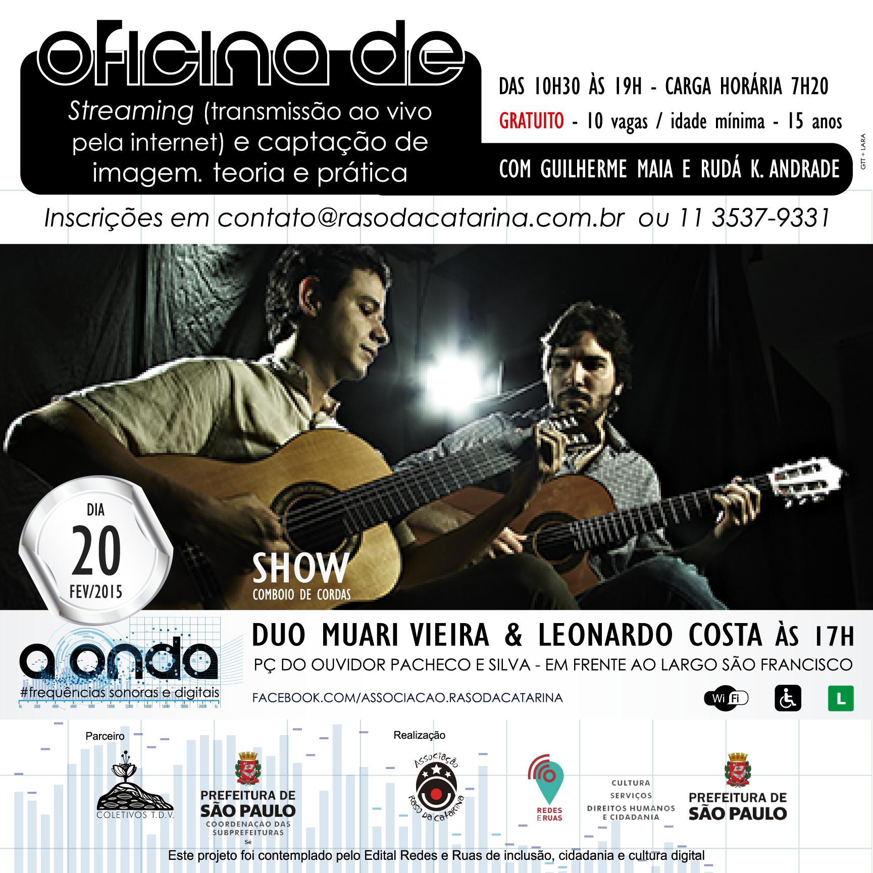 A Onda: Banner show Duo Muari Vieira e Leonardo Costa e oficina fev/2015